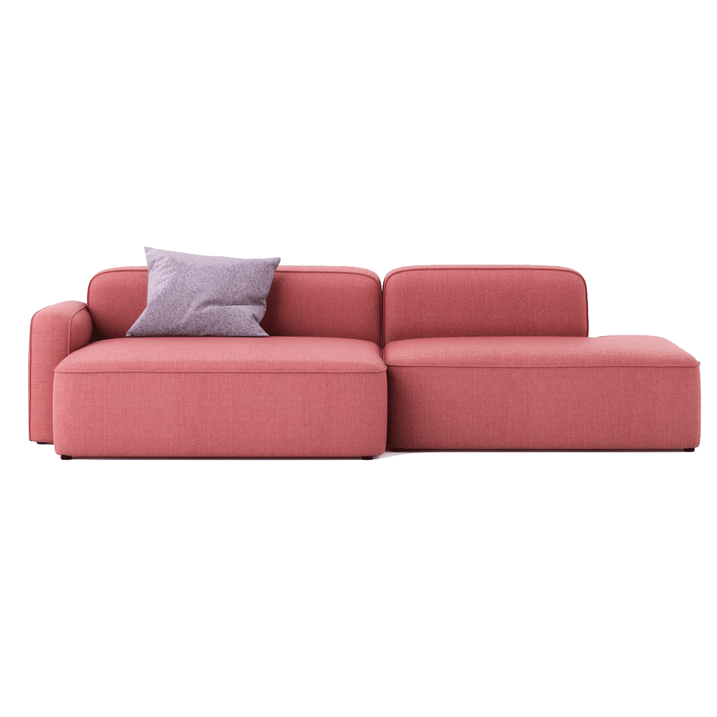 ROPE SOFA Chaise Lounge on the left in Fame fabric